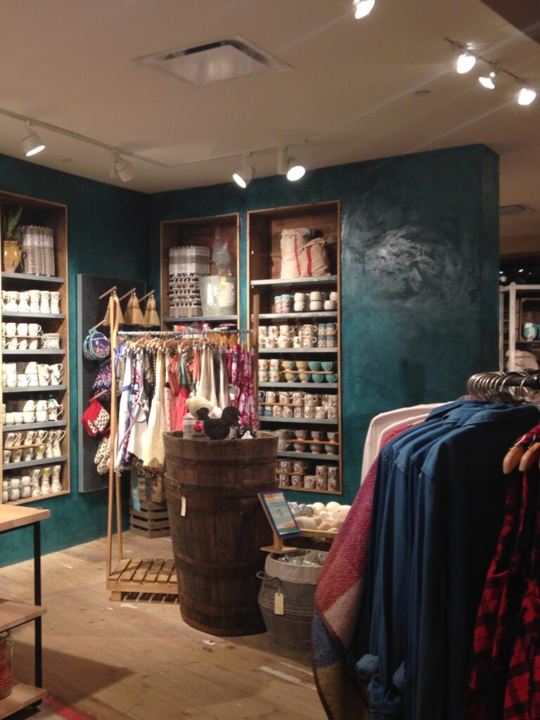 retail space with beautiful atmosphere